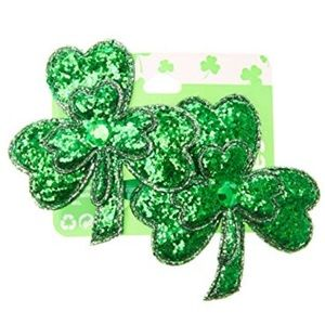 Claire's Green Shamrock Hair Clips 2 Pack